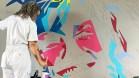 GALLERY — Janis Joplin mural underway at Visitors Center